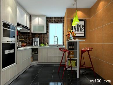 吧台厨房设计效果图 8�O别有一番自然的感觉 title=