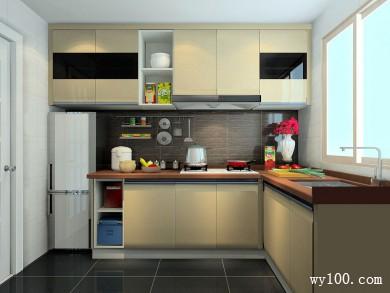 L字型厨房效果图 4�O整个厨房工作流线更顺畅 title=