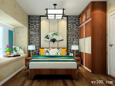 现代舒适卧室效果图 9�O搭配简约时尚的造型墙 title=