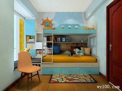 浅蓝色儿童房效果图 6�O空间充斥着活泼的气氛 title=