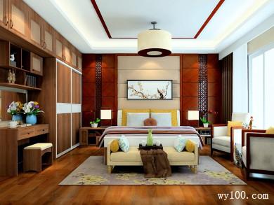 18㎡中国风卧室设计效果图
