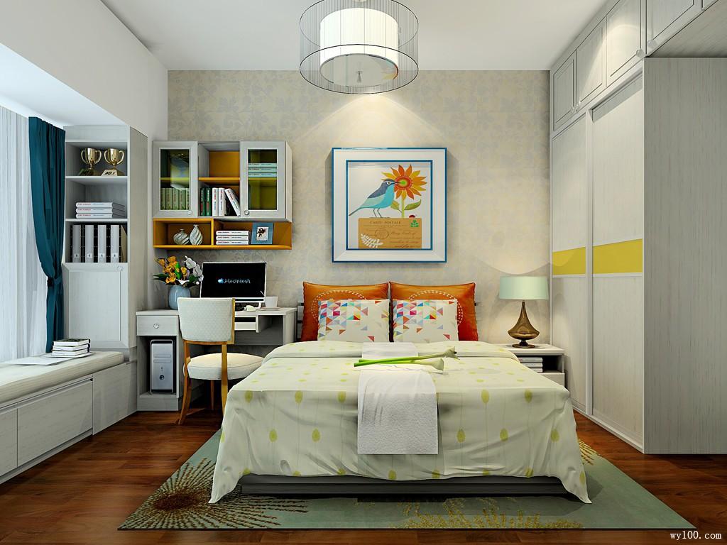 卧室装修效果图 10㎡温馨田园家居
