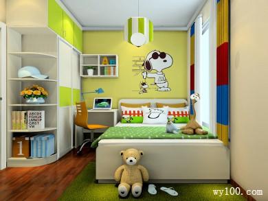 儿童房设计效果图 8�O卡通主题元素活泼可爱 title=