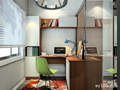欧式书房设计 书柜的设计空间利用率高 title=
