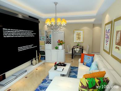 客餐厅装修效果图 29�O电视屏幕让客厅更大气 title=