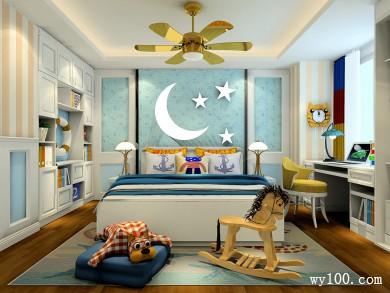 儿童房装修效果图 17�O定制性与储物性强大