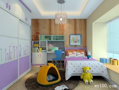 现代儿童房效果图 7�O白色紫色为主风格浪漫可爱 title=