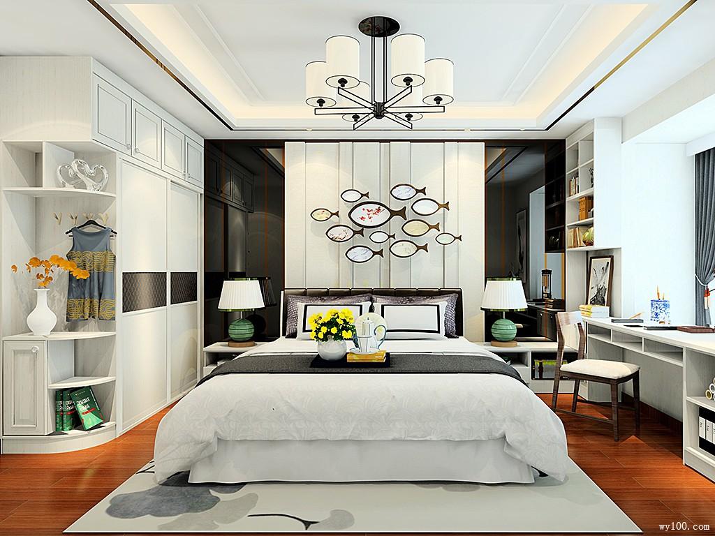 卧室低柜图片_5-10㎡上下床卧室装修效果图_维意定制家具