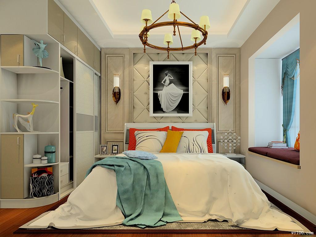 现代卧室装修效果图 12㎡温馨简约充满温馨