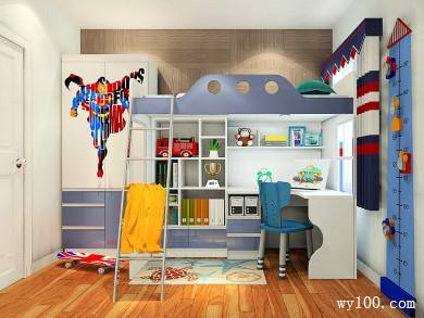 5�O蓝色儿童房效果图 活泼活力
