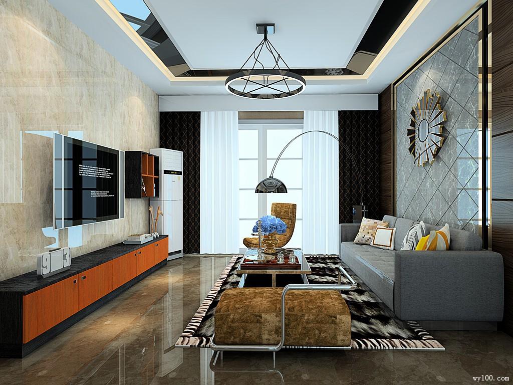 欧式客厅装修效果图 69㎡时尚大气