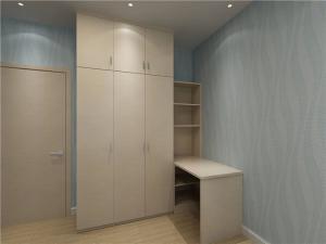 板式带书桌的衣柜