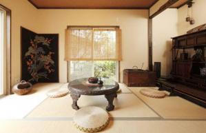 传统木色日本榻榻米