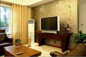 古典中式电视墙装修效果图