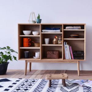 木板美式餐边柜