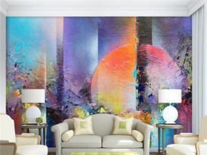 现代抽象家庭装饰电视背景