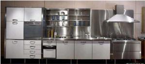 全套整体不锈钢厨房橱柜