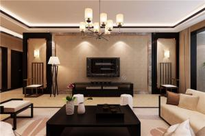 中式风格家装电视背景墙