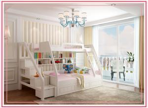 欧式卧室高低床装修效果图