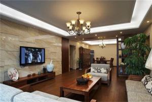 新中式家装背景墙