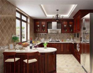 实木厨房厨柜