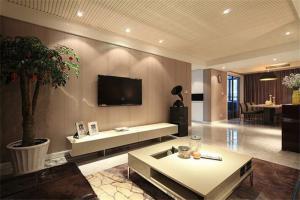 公寓现代简约电视背景墙