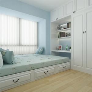 儿童卧室地台床装修效果图