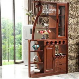 实木新中式酒柜
