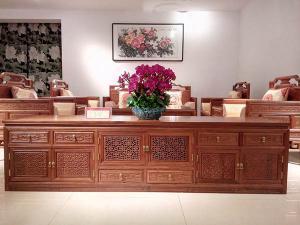 中式红木电视柜