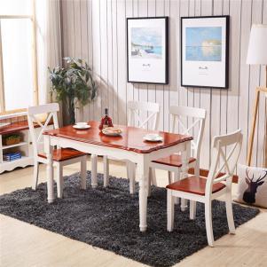 现代中式小户型客厅餐桌图片