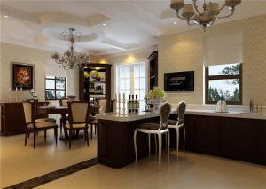 现代时尚厨房吧台