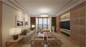 二居室客厅日式背景墙
