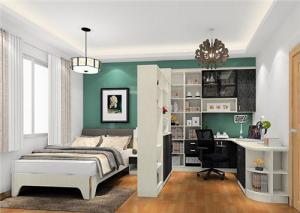 卧室多功能书房装修效果图