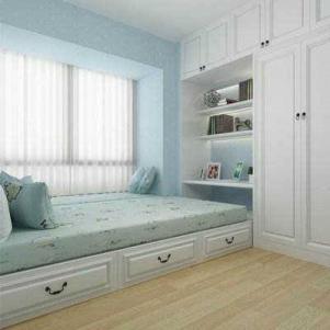 现代卧室飘窗榻榻米床