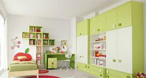 清新儿童书房装修效果图