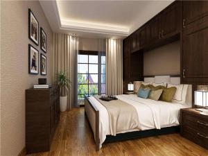 新中式卧室飘窗设计