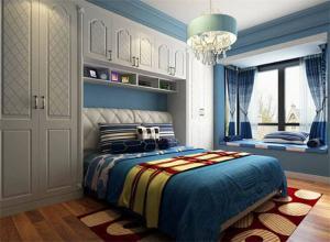 欧式卧室转角衣柜
