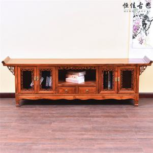 客厅地柜红木电视柜
