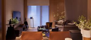 小户型新中式客厅电视背景墙