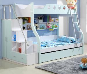 地中海卧室高低床装修效果
