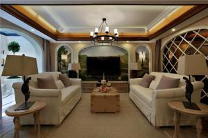 小美式风格别墅客厅