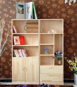 全松木儿童简易书柜