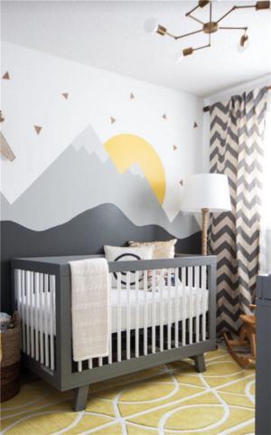 婴儿儿童房背景墙