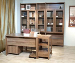 榆木整体书柜
