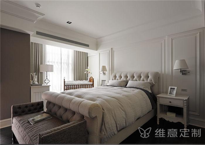 小美式风格主卧床