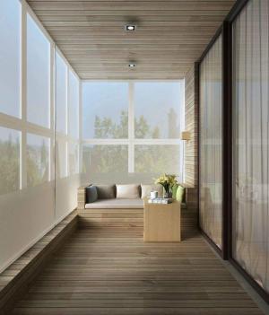 阳台书房装修效果图榻榻米改造