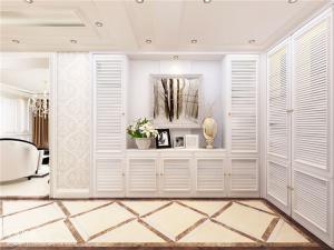 鞋柜搭配欧式门厅玄关效果