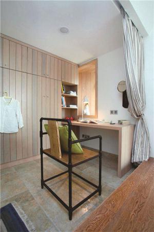 实木卧室转角书桌加衣柜