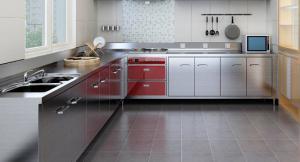餐厅厨房不锈钢厨房橱柜