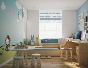 儿童小卧室榻榻米效果图